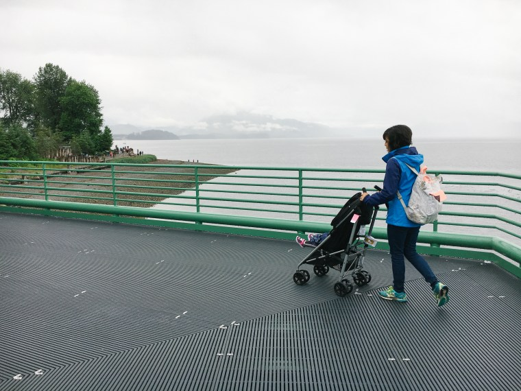 We are partnering with Evenflo to share about why a Minno stroller in essential when traveling as a family with a young toddler in Alaska. | brewedtogether.com