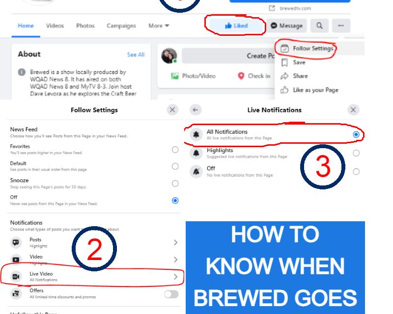 Brewed live on Facebook