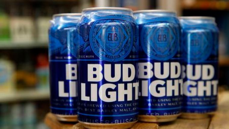 Cans of Bud Light beer