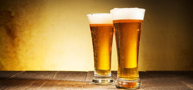Two glasses of Pale Ale beer styles.