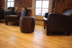 Mezzazine view_leather chairs and tables