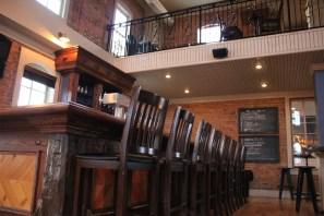 2nd floor wood bar reclaimed