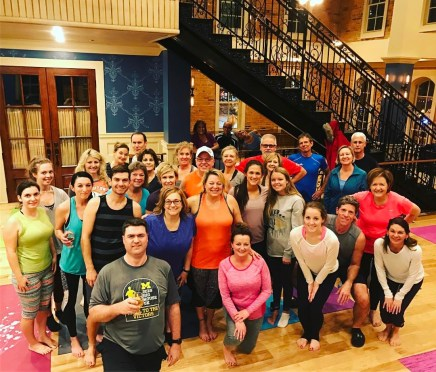 yoga and beer at Brewery Becker_Tuesday class
