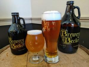 growler howler craft beer glasses filled