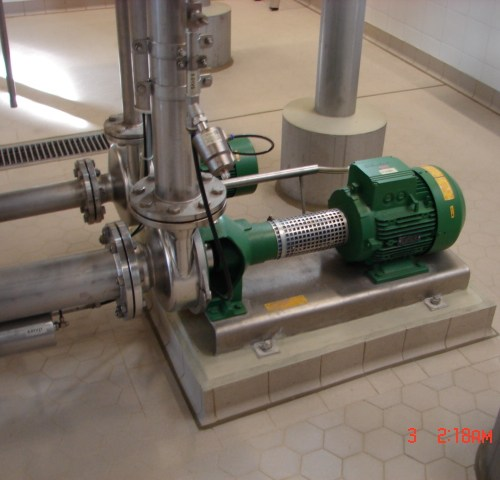 Brewery wastewater pump