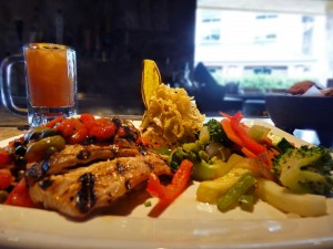 A plate of food from Rumba Island Bar and Grill