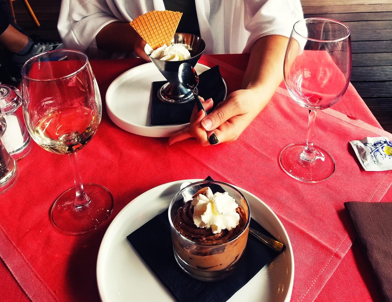 Two delicious desserts served up in Bruges
