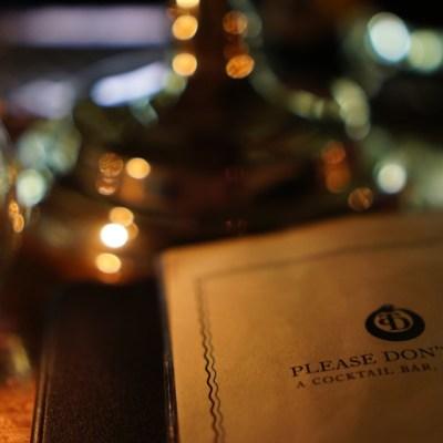 The menu from Manhattan speakeasy Please Don't Tell