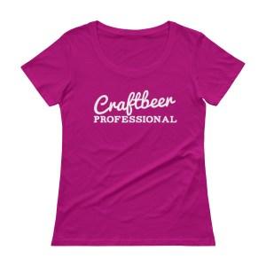 "Ladies shirt that says ""Craftbeer Professional"