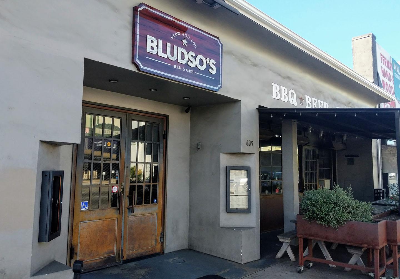 Exterior of Bludso's Bar & Que