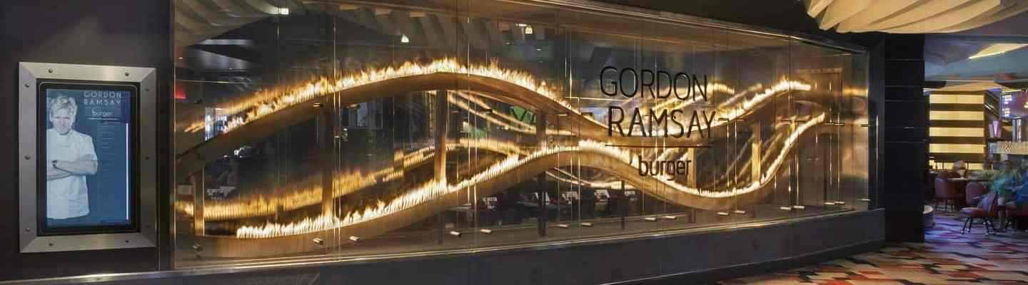 Exterior of Gordon Ramsay Burger in Las Vegas