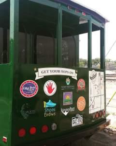 Brewhop Trolley back