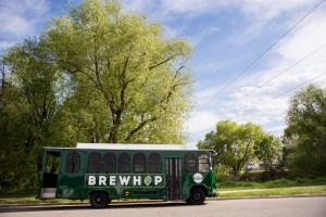 brewhop trolley in longmont colorado craft brewery tour