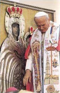 Jan Paweł II przed Cudownym Obrazem