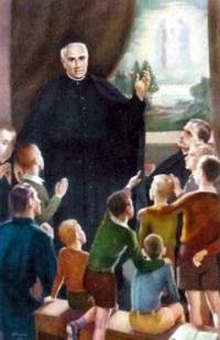 Święty Józef Manyanet y Vives w otoczeniu dzieci
