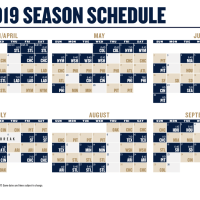 FULL Milwaukee Brewers Schedule (2019)