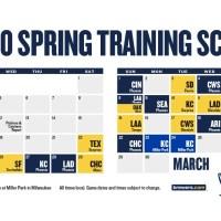 FULL Milwaukee Brewers Schedule (2020)