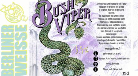 Etiquette bière ZooBrew Bush Viper