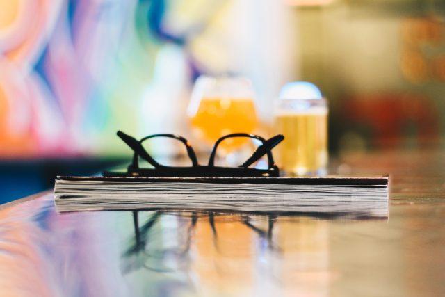 Biere IPA en arriere plan
