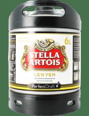 Fut 6 litres Stella artois disponible machine à bière Perfectdraft