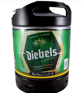 Bière Diebels fut disponible machine à bière Perfectdraft