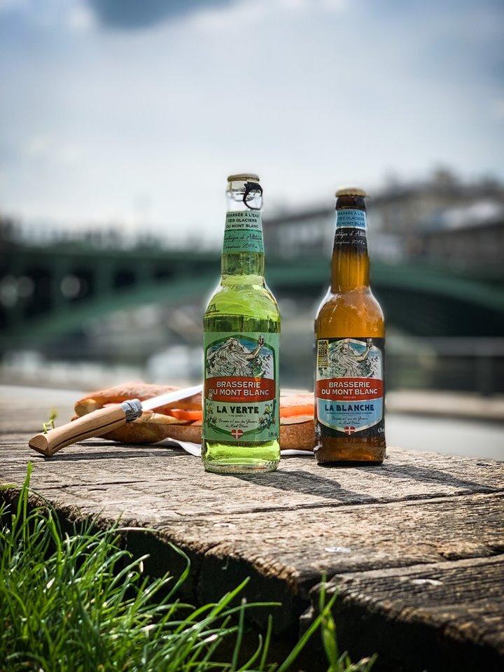 Bière verte du Mont blanc