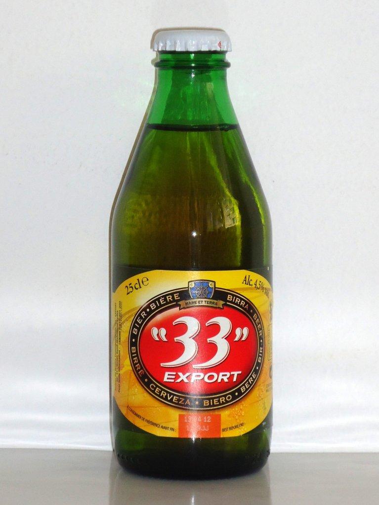 Bière de marque 33 export