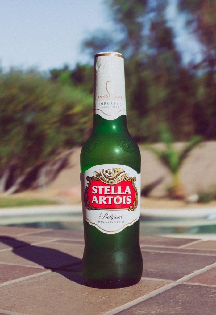 Bouteille de bière Stella Artois