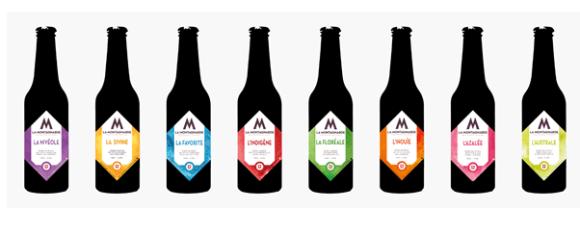 Gamme de bière brasserie la montagnarde