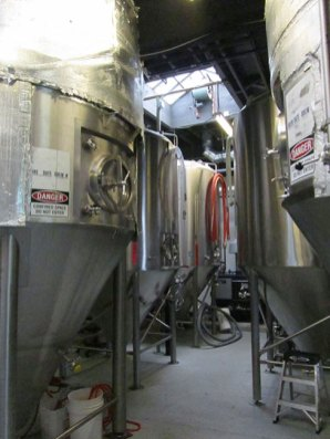 Fermenters at Buckman Brewing.