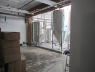 I got just peak back into the brewery.