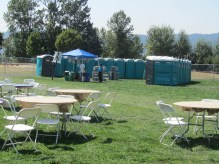 After all of the beer and water they had the porta potties ready.