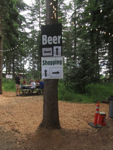 So no matter which way you go you can shop and get beer at the same time.