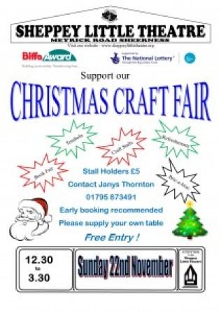 Poster Blank Xmas Craft Fair Nov 2015