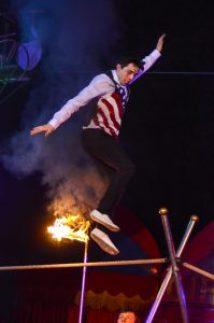 A Lucien walks the tight-rope at Santus Circus 2015 sm