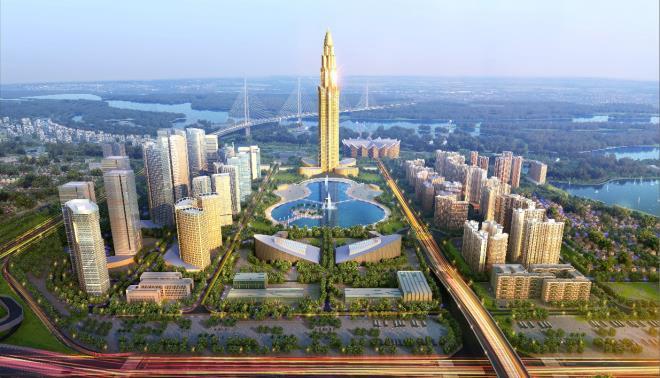 Phối cảnh Dự án Thành phố Thông minh phía Bắc Hà Nội