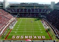 Razorback Stadium underwent major renovations the late 1990s. The university added a second deck to the east bleachers and closed the south end zone. Construction began in 1998 and lasted nearly three years, but increased seating capacity in upwards of 70,000.