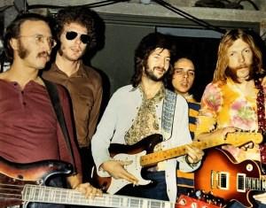 Duane & The Dominos (l-r): Carl Radle, Jim Gordon, Eric Clapton, Bobby Whitlock, Duane