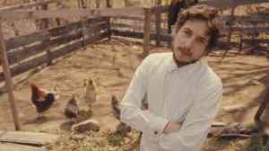 """It ain't me, babe"" - The Messiah at home with chickens."