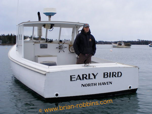 Early Bird - 33'x11' wooden lobster boat; originally built by J.O. Brown & Son in 1979; rebuilt by current owner Foy E. Brown in 2011.