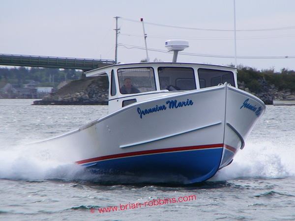 Calvin Beal Jr. finished the 34' Jeannine Marie for himself in 2010; hull and top built by SW Boatworks in Lamoine, ME.