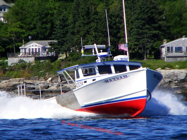 MaxSam, a Calvin Beal 38 finished by Simmons Boatworks of Friendship, ME for New Harbor lobsterman Matt Moody. (2014)