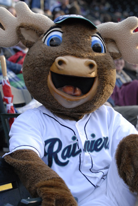 Rhubarb, the Rainiers Mascott