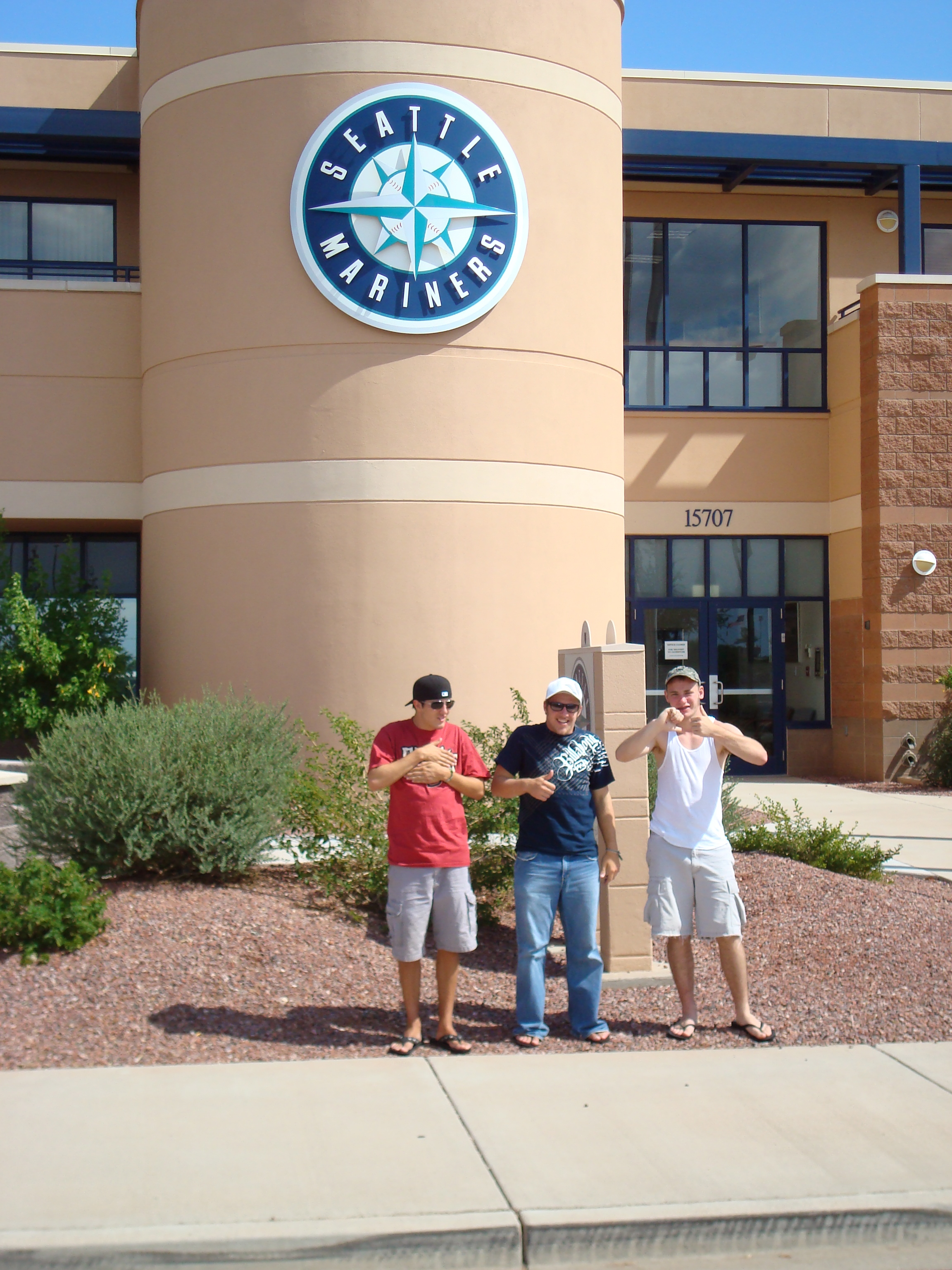 Ricky, Dylan and John at the M's spring training facility