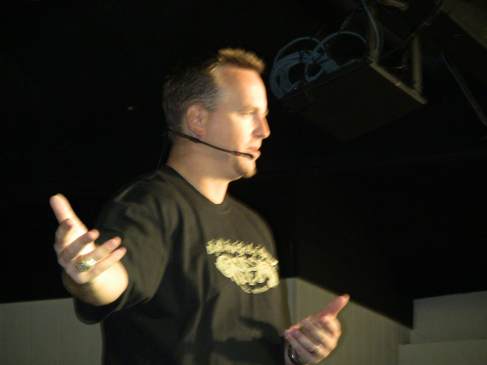 Mike, speaking at Lake Retreat