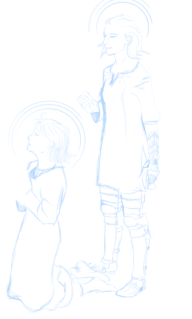 Sometimes I like sketching in blue