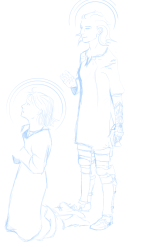 I like sketching in blue