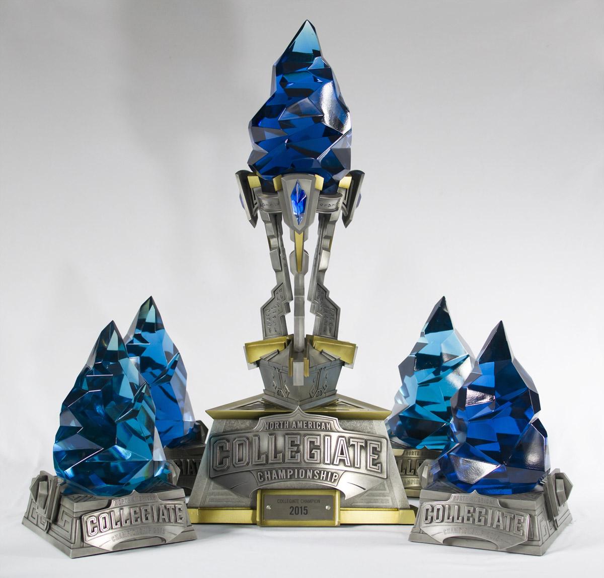 NA Colegiate Championship Trophies