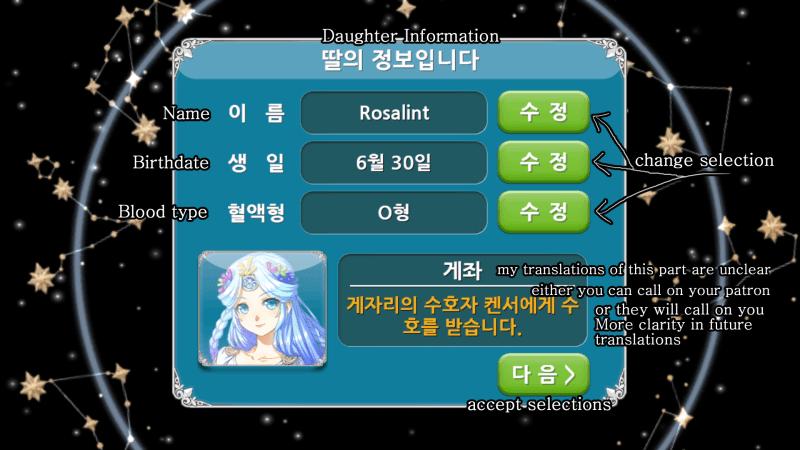 Princess Maker for Kakao Confirm Info
