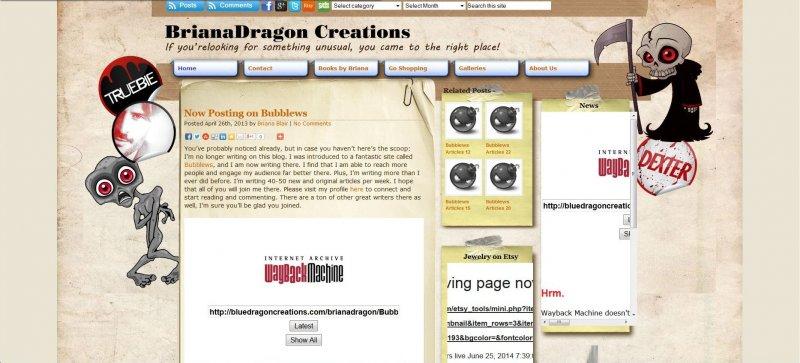 Blue Dragon Creations Screenshot 2013 - © Briana Blair